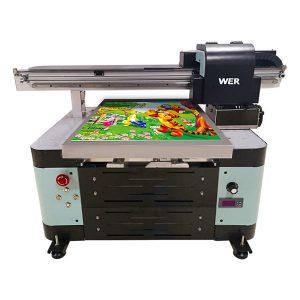 12 koloroj inkjet a2 aŭtomata tx6090 uv printilo platan printilon