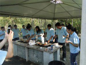 BBQ en Gucun Park, aŭtuno 2014