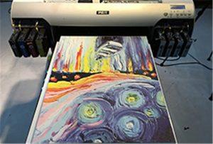 Canvas-specimeno de A2 UV Printer WER-EH4880UV