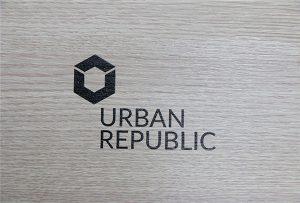 Logo-presado ĉe lignaj materialoj de WER-D4880UV