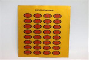 Presanta specimenon de Metalo sur A3-UV-presilo WER-E2000UV